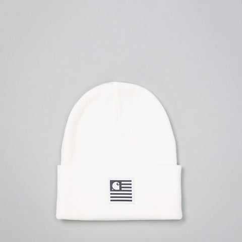 Carhartt WIP State Beanie in White - Notre
