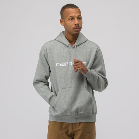 Carhartt WIP Hooded Carhartt Sweatshirt in Grey - Notre