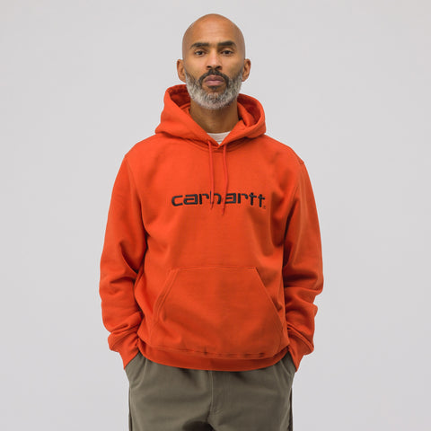 Carhartt WIP Hooded Carhartt Sweatshirt in Orange - Notre