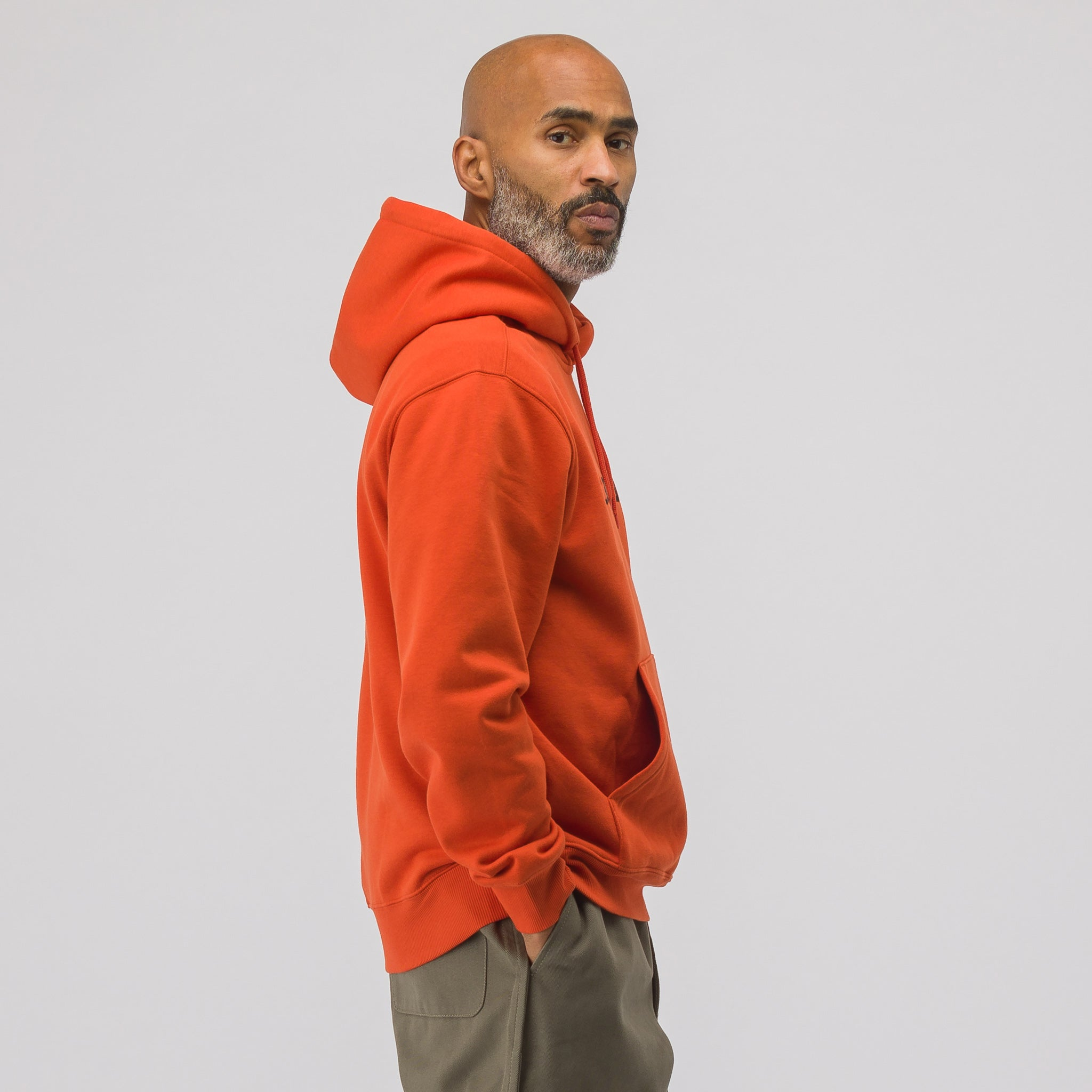 Hooded Carhartt Sweatshirt in Orange