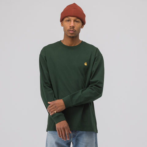 Carhartt WIP Long Sleeve Chase T-Shirt in Loden - Notre