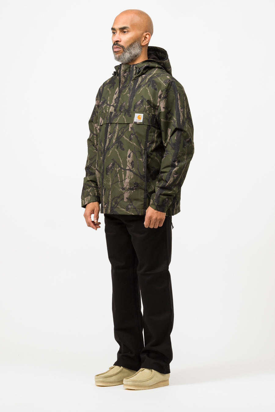 Carhartt WIP Nimbus Pullover Nylon Supplex in Camo Tree Green - Notre