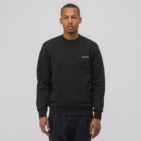 Carhartt WIP Script Embroidery Sweatshirt in Black - Notre