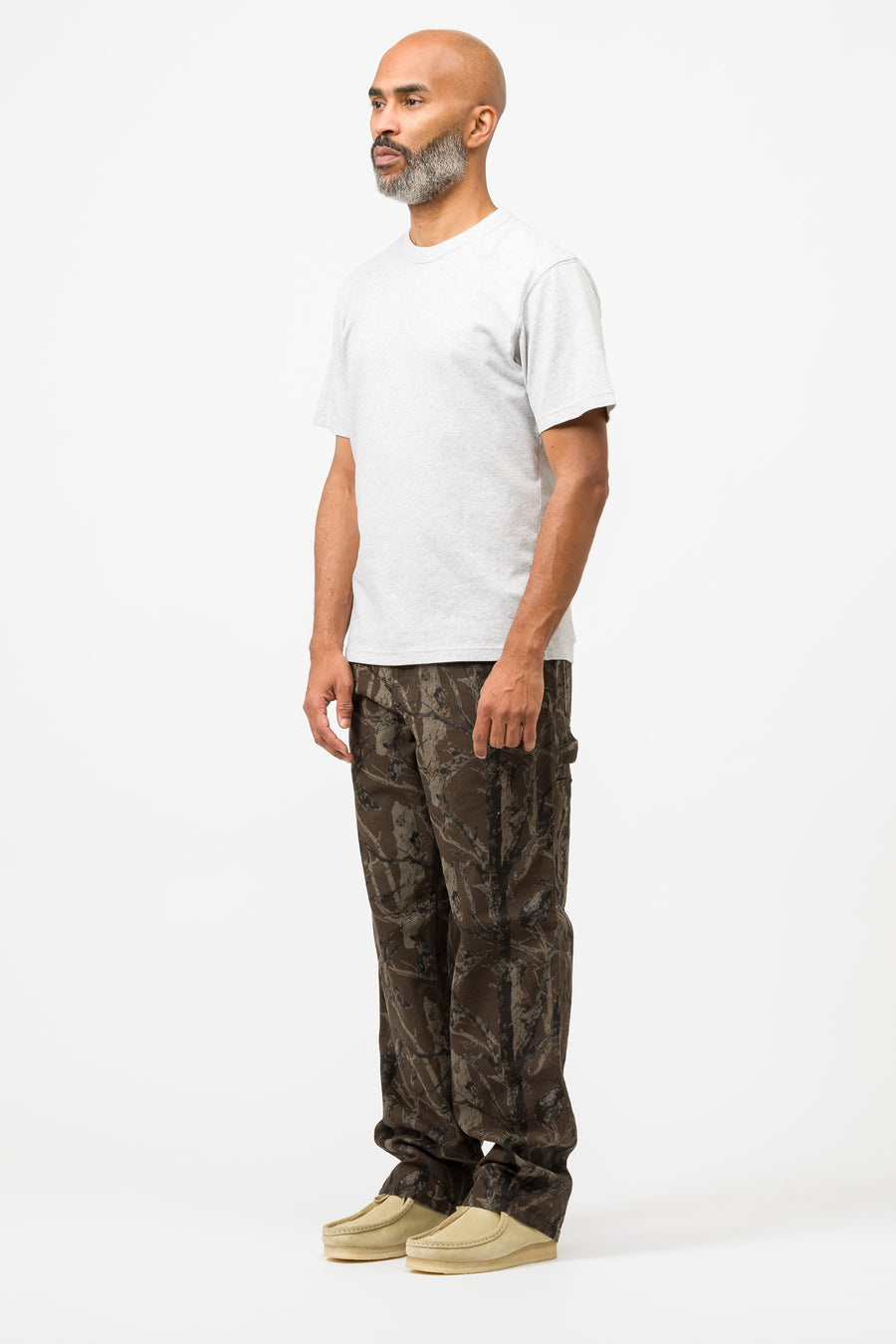 Carhartt WIP Single Knee Pant Dearborn Canvas in Rinsed Camo Tree Green - Notre