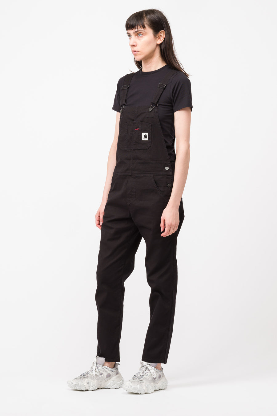 Carhartt WIP Bib Overall Huron Stretch Canvas in Black - Notre