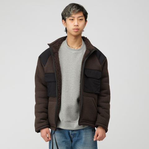 Cav Empt Boa Fleece Zip Up Jacket in Charcoal - Notre