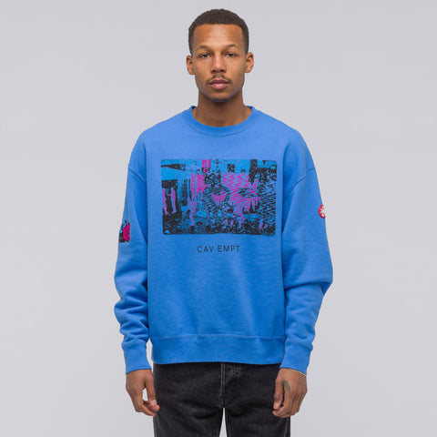 Cav Empt Card 17 Crewneck Sweatshirt in Blue - Notre
