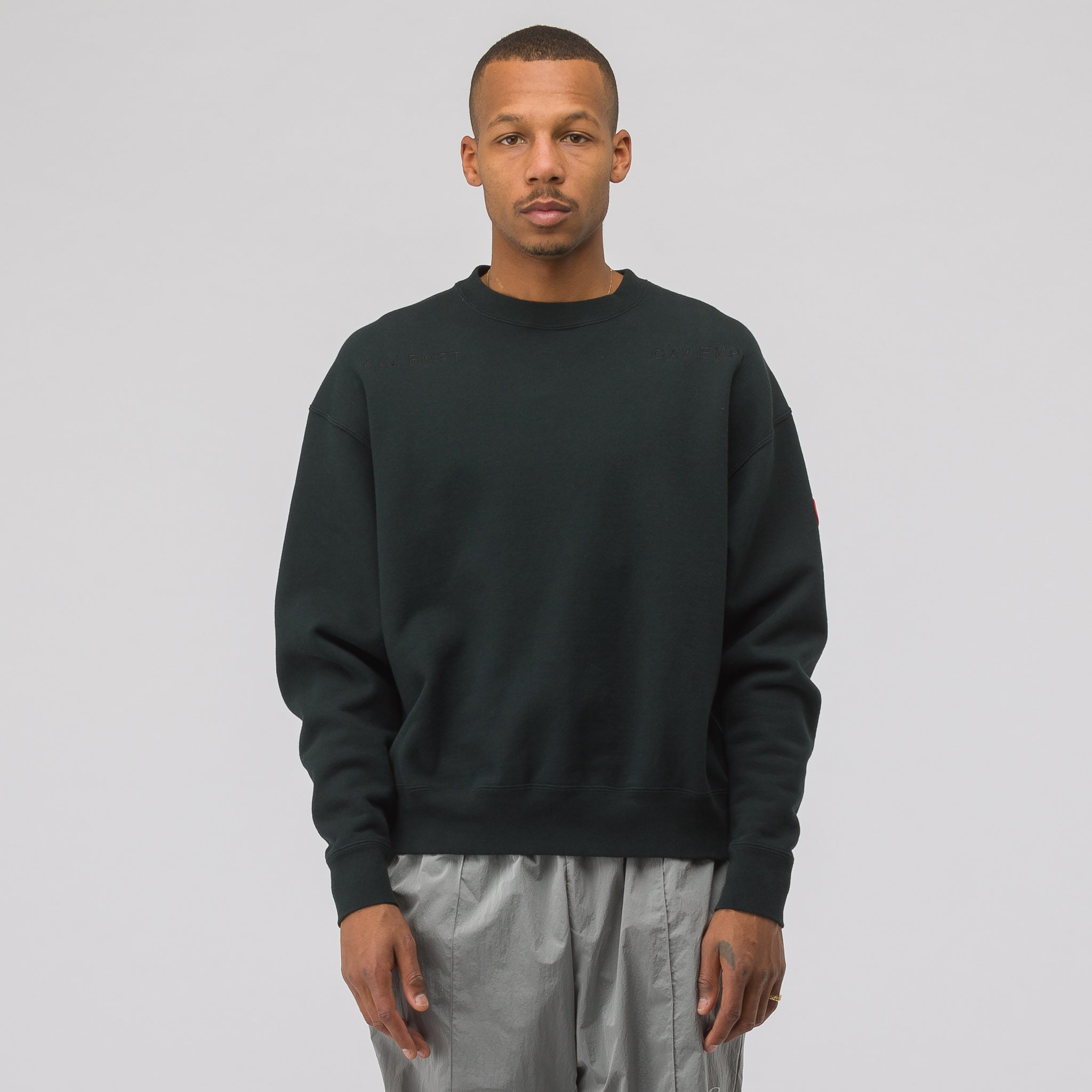 Card 19/1 Crew Neck Sweatshirt in Black