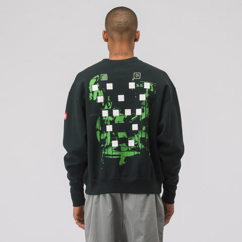 Cav Empt Card 19/1 Crew Neck Sweatshirt in Black - Notre