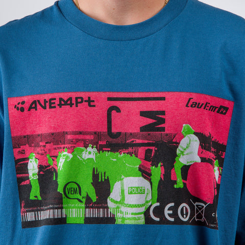 Cav Empt CE!X Long Sleeve T-Shirt in Blue - Notre