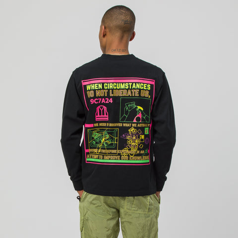 Cav Empt Circumstances Long Sleeve T-Shirt in Black - Notre