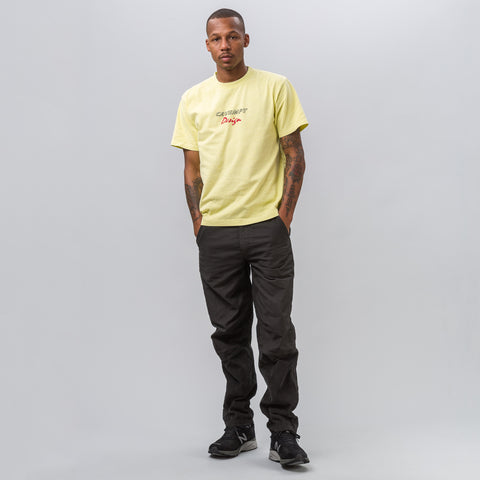 Cav Empt Design Over Dye Tee in Yellow - Notre