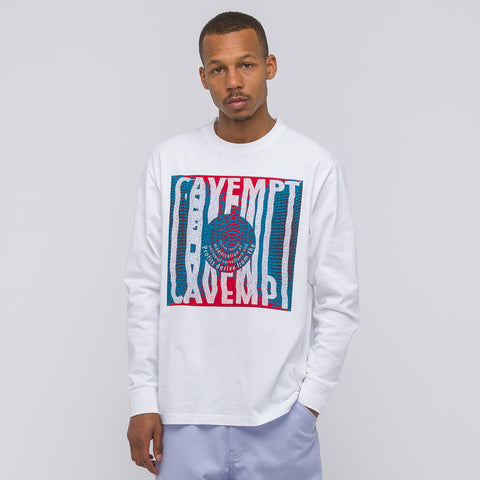Cav Empt Desire Long Sleeve T-Shirt in White - Notre