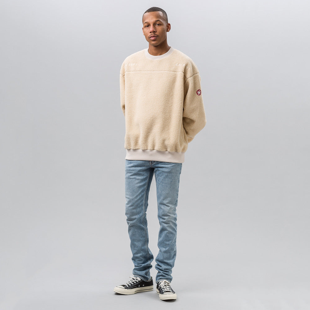 Cav Empt Fleece Crew Neck in Beige - Notre