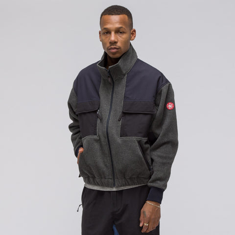 Cav Empt Fleece Zip Up in Grey - Notre