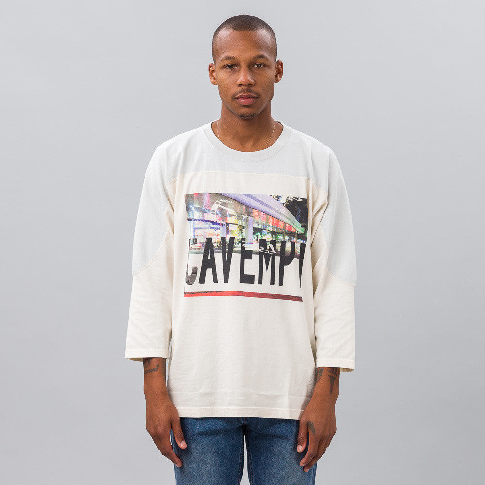 Cav Empt Football T-Shirt in Cream