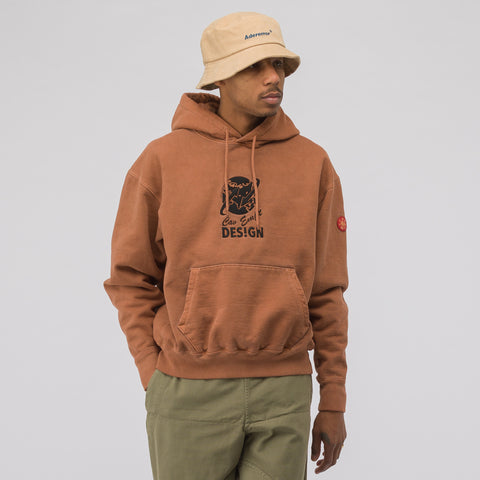 Cav Empt Globe Heavy Hoody in Brown - Notre