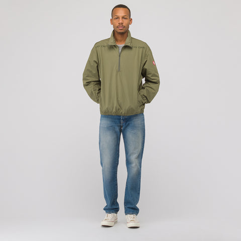 Half Zip Pullover in Olive Green