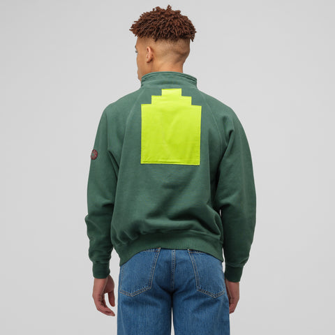Cav Empt Half Zip Sweat in Green - Notre