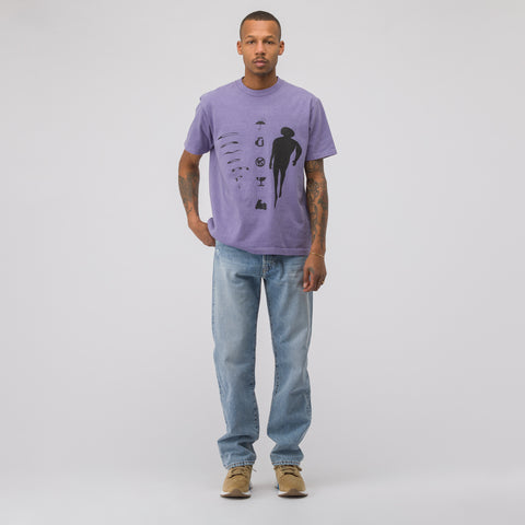 Cav Empt Inverted Cone Overdye T-Shirt in Lilac - Notre
