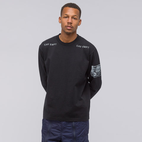 Cav Empt Long Sleeve T-Shirt in Black - Notre