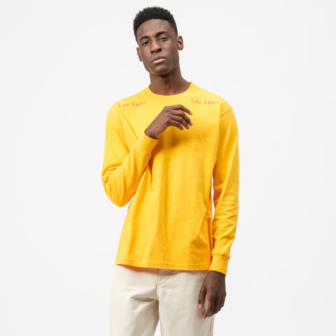 Cav Empt MD Copies L/S T-Shirt in Orange - Notre
