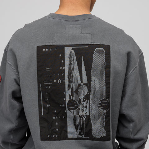 Cav Empt MD tetAtet Crew Neck in Grey - Notre