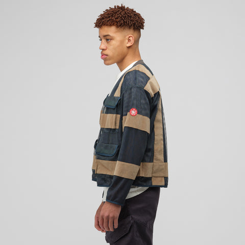 Cav Empt Mesh Zip Jacket in Green - Notre