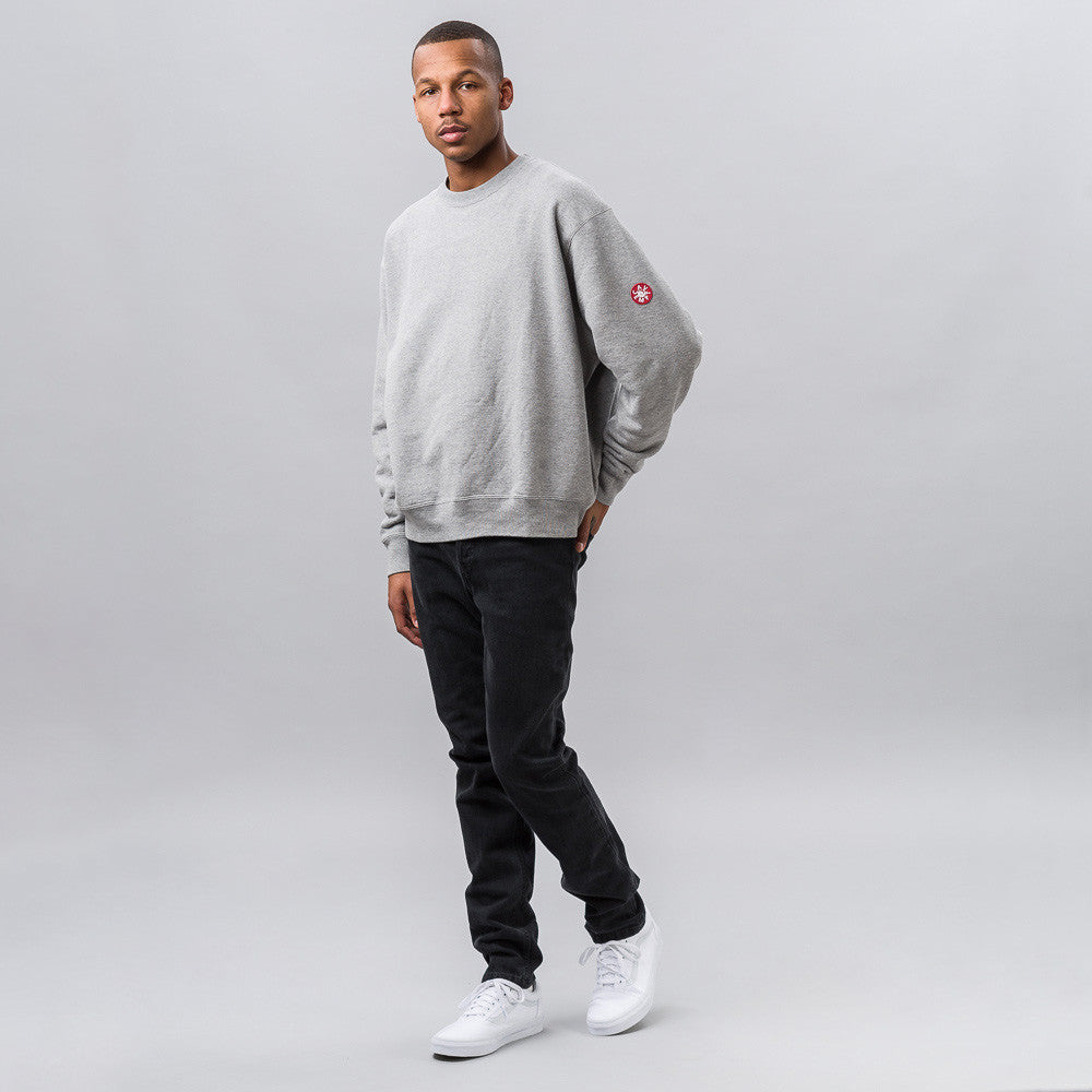 Cav Empt Reality/Madness Crewneck in Grey Notre 1