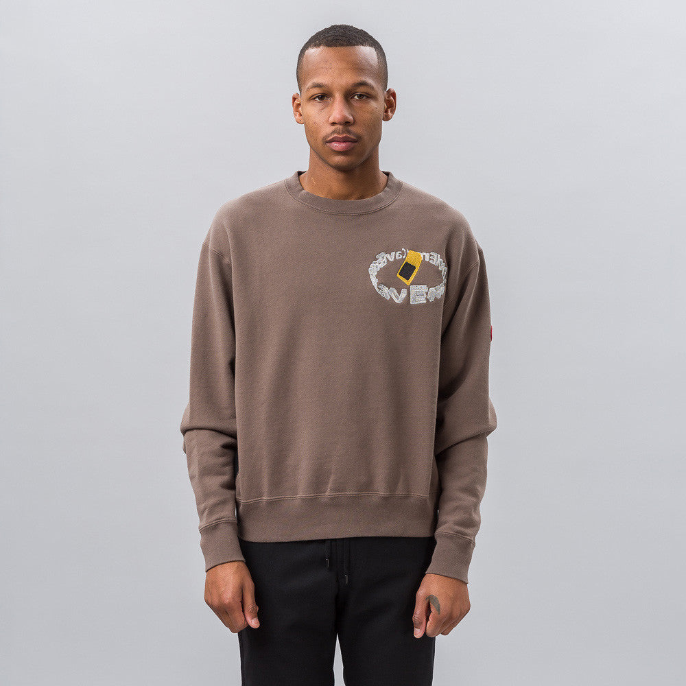 Cav Empt S. Card Crew Neck in Brown Notre 1