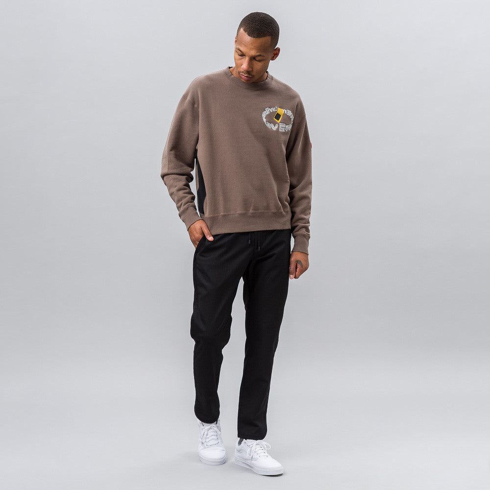 Cav Empt S. Card Crew Neck in Brown - Notre