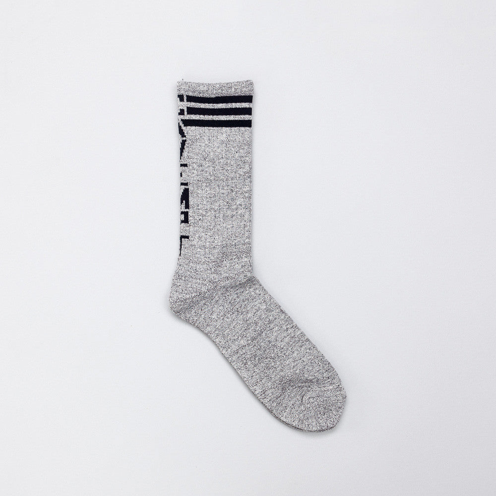 Cavempt Socks in Grey Flat View