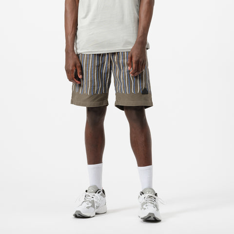 Cav Empt Stripe Shorts in Brown - Notre