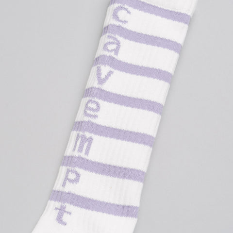 Cav Empt Stripe Socks in White - Notre