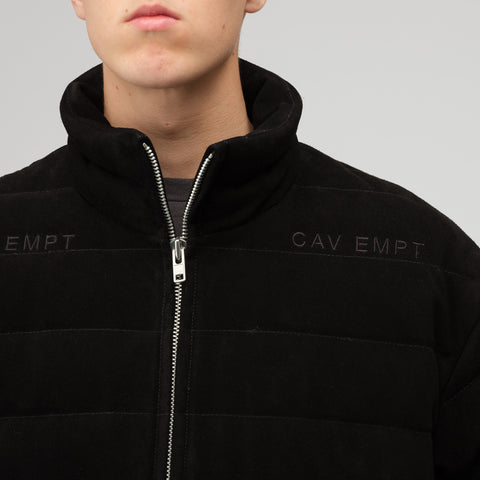 Cav Empt Suede Down Jacket in Black - Notre