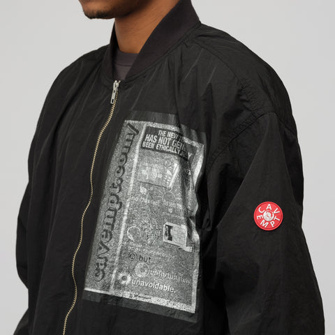 Cav Empt Unavoidable Zip Jacket in Black - Notre