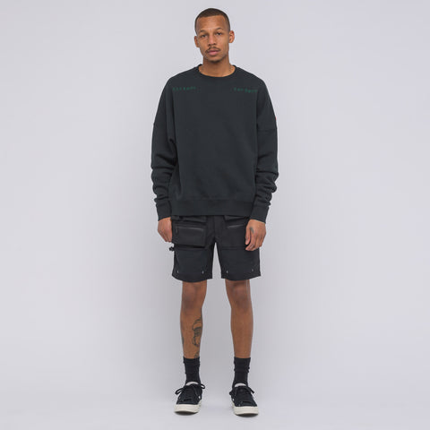 Cav Empt World's Processes Crew Neck Sweatshirt in Black - Notre