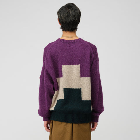 Cav Empt Ziggurat Knit Sweater in Purple - Notre