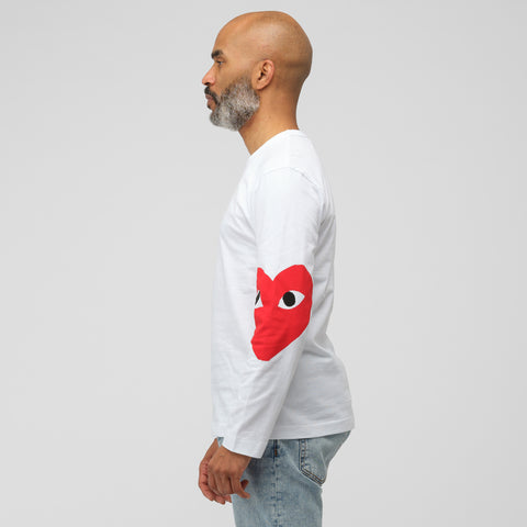 Comme des Garçons Play Play RTW T-Shirt 1 in White - Notre