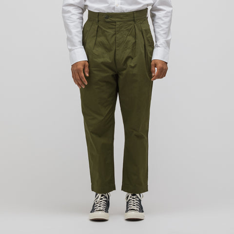 Junya Watanabe Plain Weave Pant in Olive Green - Notre