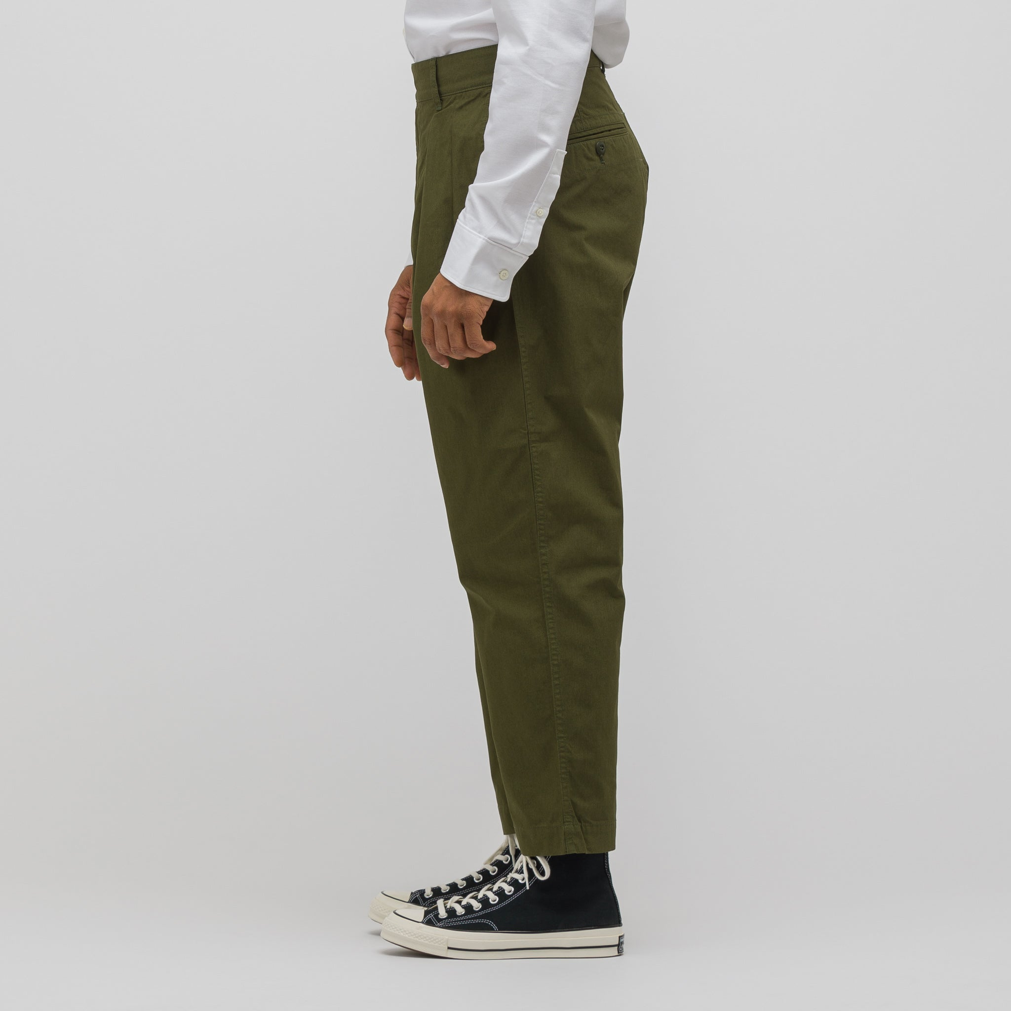 Plain Weave Pant in Olive Green