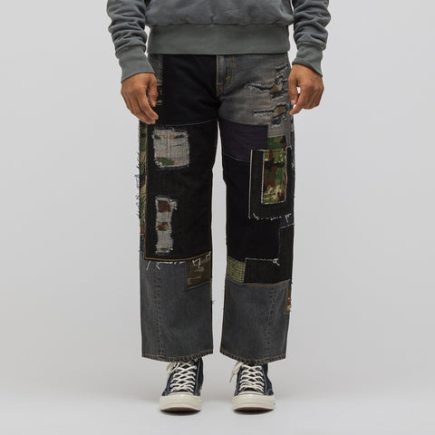 Junya Watanabe Patchwork Jean in Black/Grey - Notre