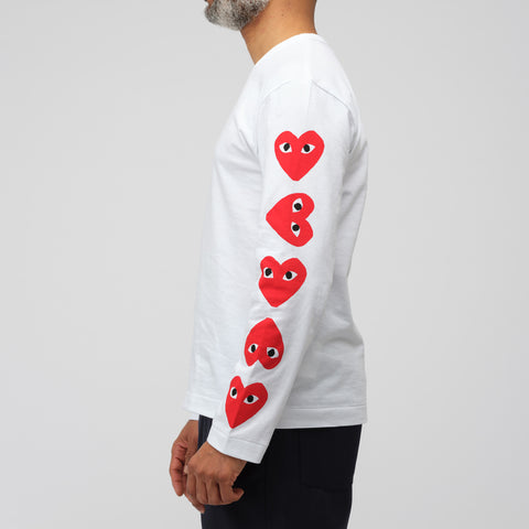 Comme des Garçons Play Play RTW T-Shirt 2 in White - Notre