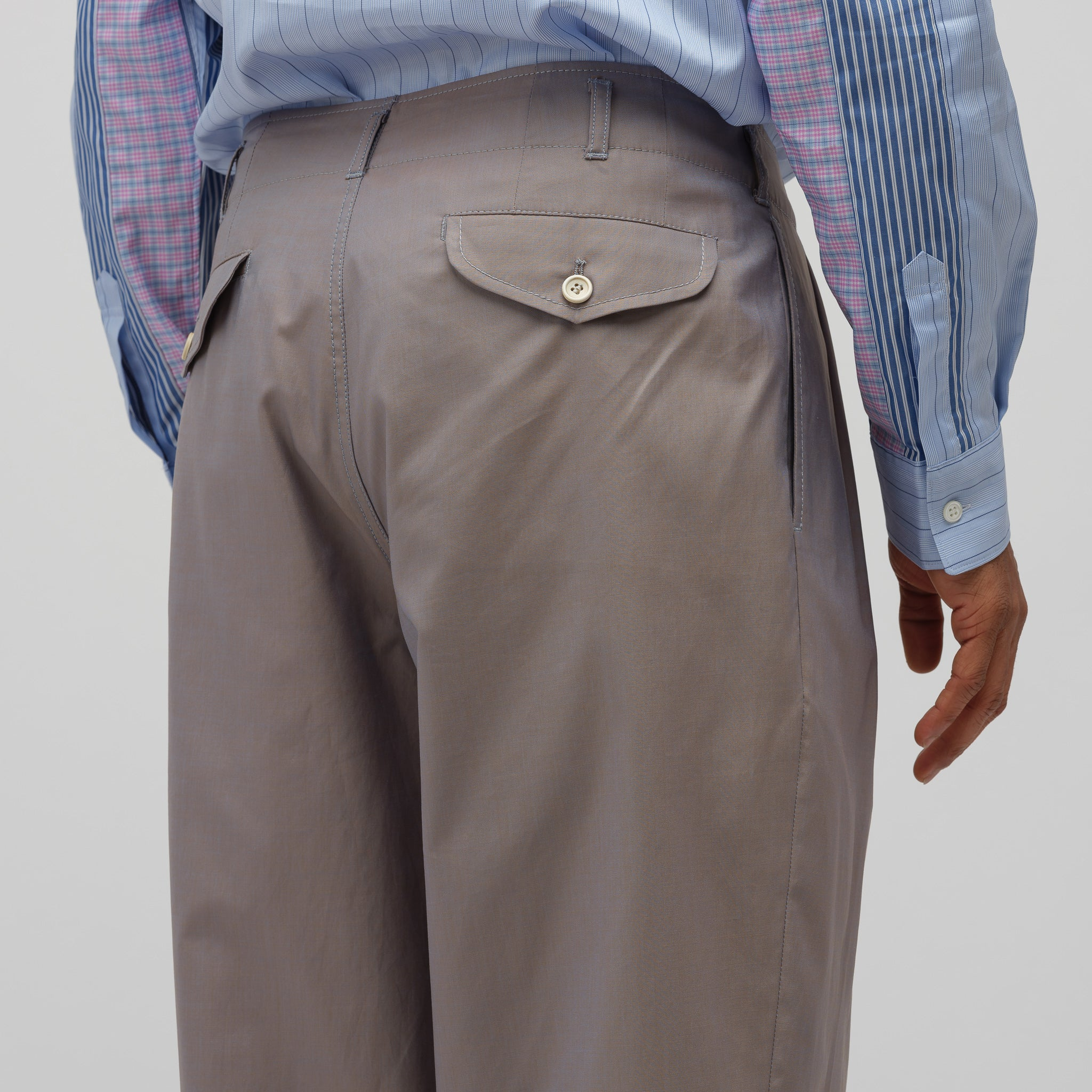 Wide Leg Pant in Grey/Blue