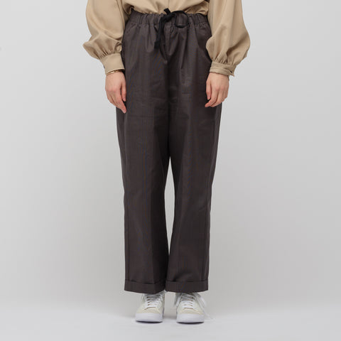 Chimala Glencheck Wide Drawstring Pant in Charcoal - Notre