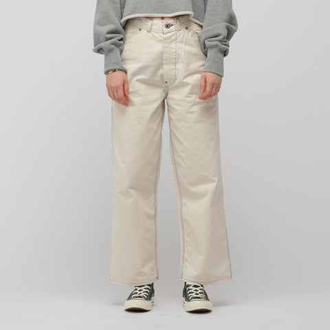 Chimala High Density Military Canvas Painter Trouser in Off White - Notre