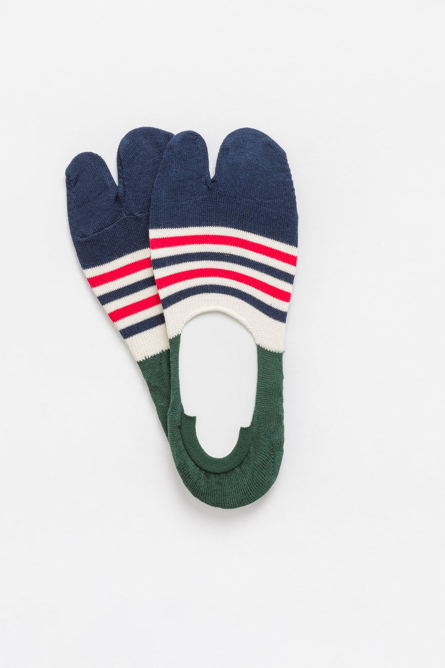 Chup 3 Point Grip Socks in Navy/Green/Red - Notre
