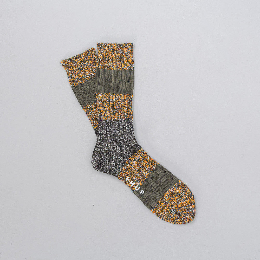 CHUP Stratum Sock in Yellow Notre 1