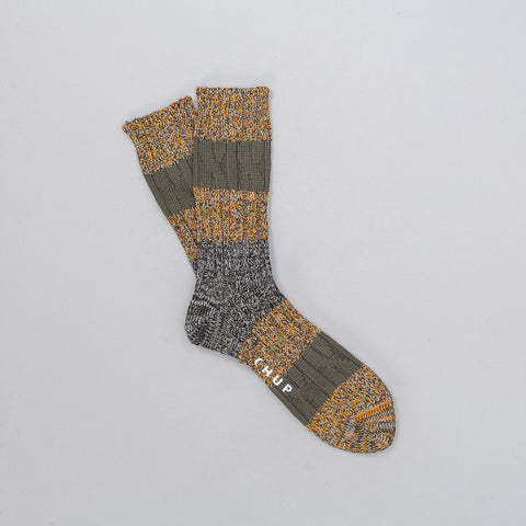 Chup Stratum Sock in Yellow - Notre