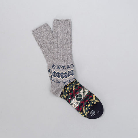 Chup Winter Garden Sock in Gray - Notre